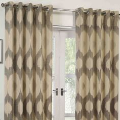 Delta Fully Lined Ring Top Curtains - Grey