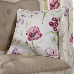 Ellie Floral Cushion Cover - Red