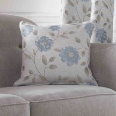 Hereford Floral Cushion Cover - Blue