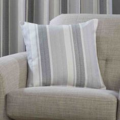 Monaco Striped Cushion Cover - Charcoal Grey