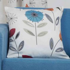 Monterey Floral Cushion Cover - Teal Blue