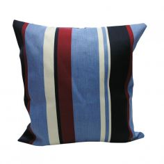 Padstow Striped Cushion Cover - Blue Red