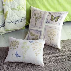 Botanique Floral Cushion Cover - Green