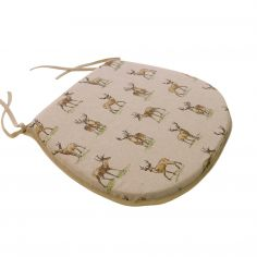 Country Stags Tie On Seat Pad