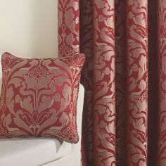 Crompton Jacquard Cushion Cover - Red