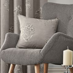 Flora Cushion Cover - Dove Grey