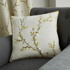 Hemsworth Floral Cushion Cover - Ochre Yellow