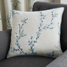 Hemsworth Floral Cushion Cover - Duck Egg Blue