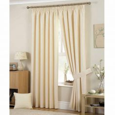 Hudson Fully Lined Tape Top Curtains - Natural
