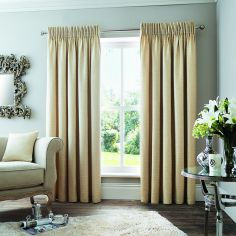 Rimini Fully Lined Tape Top Curtains - Natural