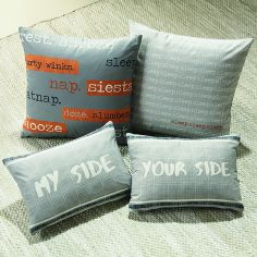 Dexter Double Sided Unfilled Boudoir Cushion - Grey Orange