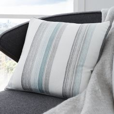 Rydell Stripe Cushion Cover - Teal Blue