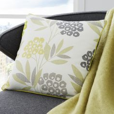 Karsten Floral Print Cushion Cover - Lime Green