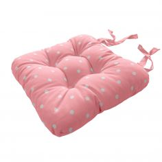 Dotty Tie On Seat Pad - Pink