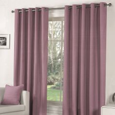 Sorbonne Fully Lined Eyelet Curtains - Heather