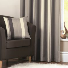 Whitworth Striped Cushion Cover - Charcoal Grey