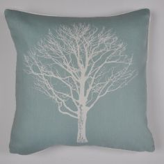 Woodland Trees Cushion Cover - Duck Egg Blue
