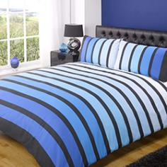 Soho Blue Striped Duvet Cover Set
