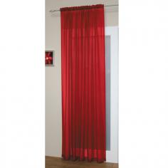 Red Slot Top Voile Curtain Panel