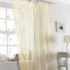 Popsicle Cream Sparkle Voile Curtain Panel
