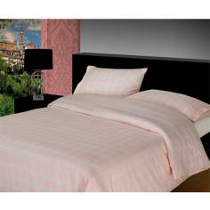 Pink Check Flannelette Duvet Cover Set