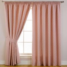 Dotty Pink Thermal Blackout Curtains