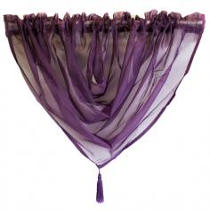 Ready Made Aubergine Voile Swag