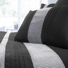 Kimberley Black & Silver Diamante Duvet Cover Set