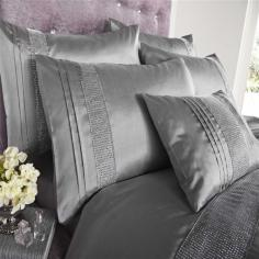 Kimberley Silver Diamante Duvet Cover Set