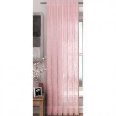 Hearts Pink Voile Curtain Panel
