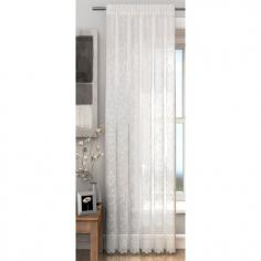 Hearts White Voile Curtain Panel