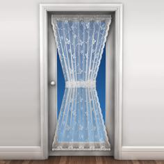 New Butterfly Door Net Curtain White