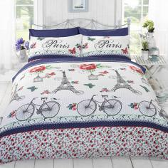 C'est la Vie Paris Navy & Red Duvet Cover Set