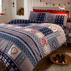 Nordic Multi-Colour Flannelette Duvet Cover Set