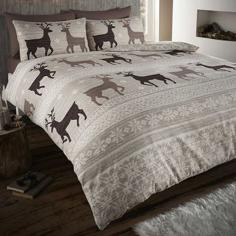 Helsinki Thermal Flannelette Taupe Duvet Cover Set