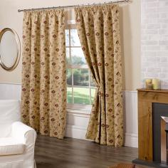 Tapestry Jacquard Floral Fully Lined Banbury Curtains