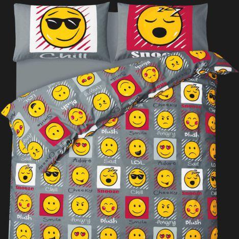 Emoji Emoticons Quilt Cover Tony S Textiles Tonys