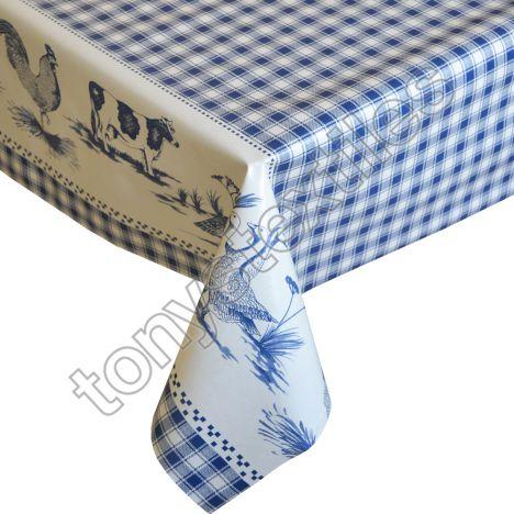 Blue Plastic Vinyl Tablecloth Tonys Textiles