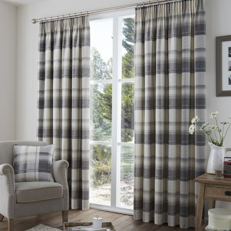 Curtains Ideas charcoal and cream curtains : Check | Tape top | Lined | Curtains | Red | Stripe | Tony's ...
