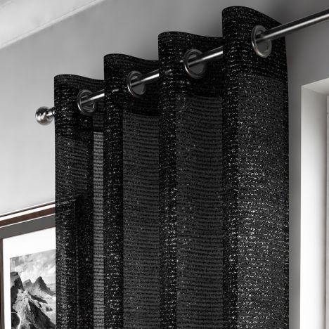 Black Sparkle Curtain Panel Tony S Textiles