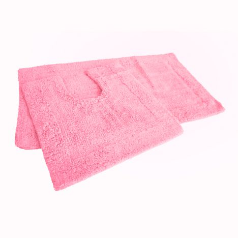 Pink Bath Mat Set 100 Cotton Tonys Textiles