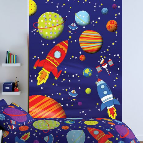 Outer space wall art tonys textiles for Wall decor outer space