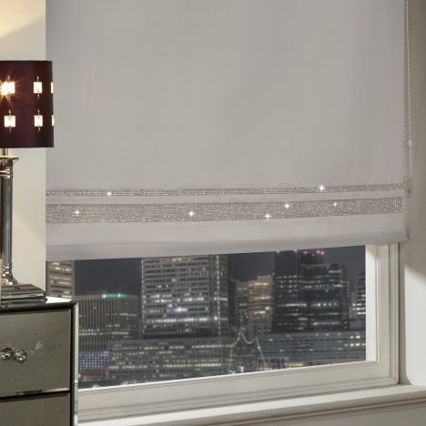 Roller Blind Diamante Silver Blinds Tonys Textiles