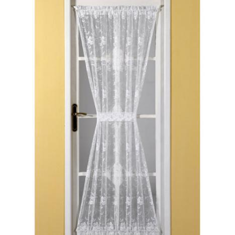 emma door net curtain white tonys textiles. Black Bedroom Furniture Sets. Home Design Ideas