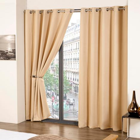 Thermal Eyelet Blackout Curtains Cream Tony S Textiles Tonys Textiles