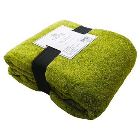 Green fleece blanket throw tonys textiles
