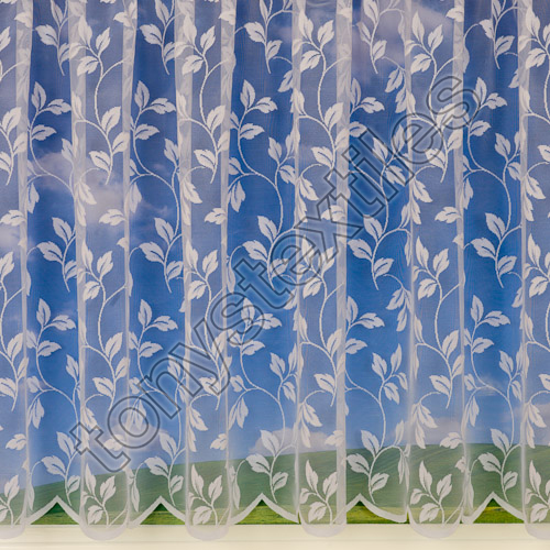 Leaf Leaves Net Curtain White Tony S Textiles Tonys
