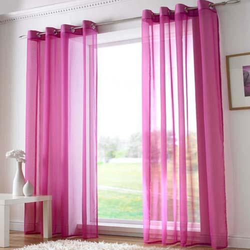 Cerise Pink Eyelet Voile Curtain Panel Tony S Textiles