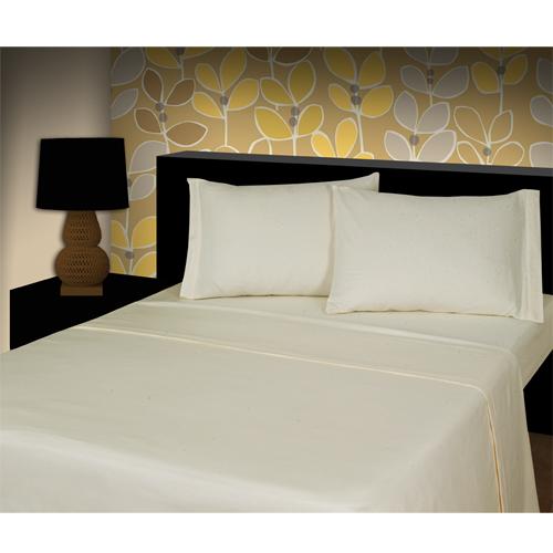 flannelette 100 cotton fitted sheet cream tonys textiles. Black Bedroom Furniture Sets. Home Design Ideas
