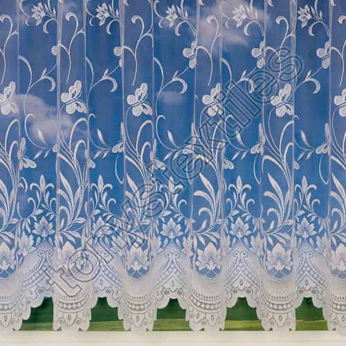 New Butterfly 3906 Net Curtain - White | Tonys Textiles | Tonys ...